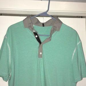LuLu Lemon men's polo shirt.